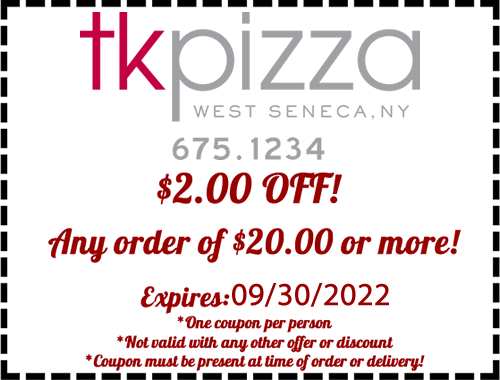 TK's Pizza Coupon West Seneca NY