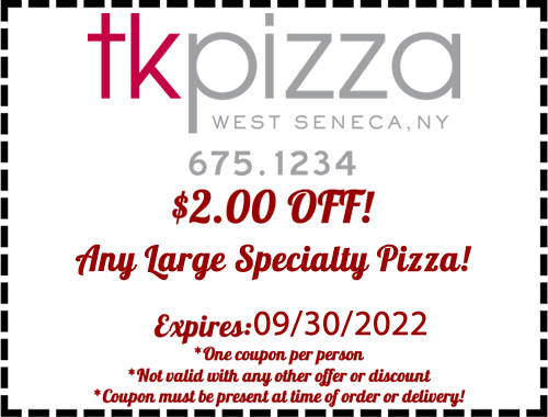 $2.00 Off any large specialty pizza