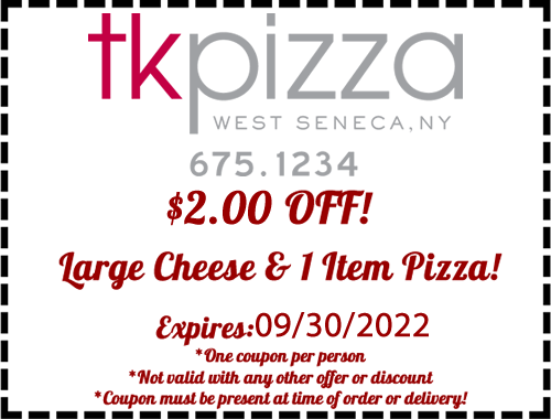 $1.00 Off and Large Cheese and 1 item pizza!